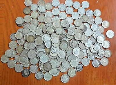 4 Rolls (200 Coins) Roosevelt 90% Silver Dimes Mixed Dates 🌟 Insurance Included