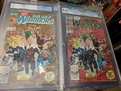 New Warriors #1 (1990) Red Cover CGC 9.2, New Warriors # 1 Gold Cover CGC 9.4