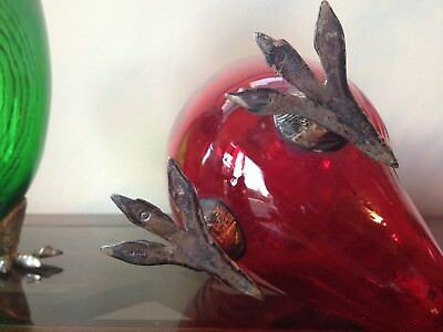 decanter glass and silver owl