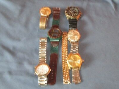 Lot of Vintage & Later Broken Mens Watches Parts Pieces Crafts Re-Purpose