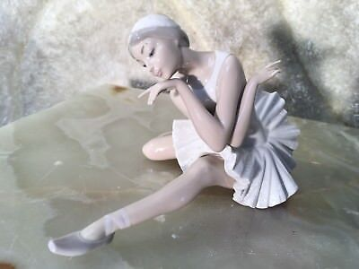 Gorgeous Hand Made Spain  Lladro Figurine Ballerina With Original Box