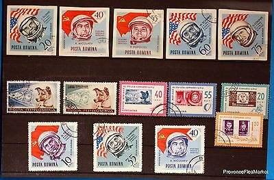 Romania Leica Space Set Of Stamps Lo247