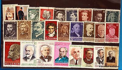 Romania Man Famous Set Of Stamps Lo249