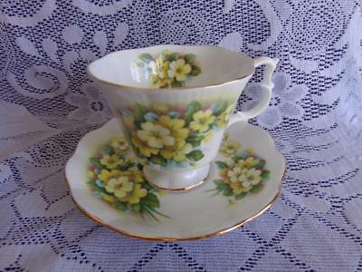 Royal Albert Bone China Yellow Primulette Gainsborough Style Cup & Saucer