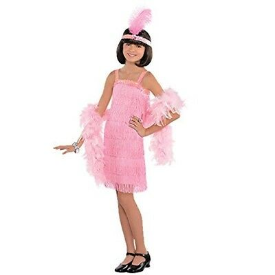 c17909b64 PINK FLAPPER GIRLS Fancy Dress 20s 1920s Charleston Gatsby Childrens ...