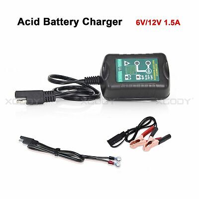 Battery Charger Maintainer Trickle 6V 12V 1.5A Car Automatic Motorcycle