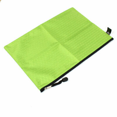Rectangle A4 Folder Wallet Holders Documents Bag Storage Zipper File Bag Green