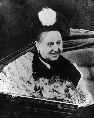 New 11x14 Photo: Candid Image of a Smiling Queen Victoria in Carriage, 1897