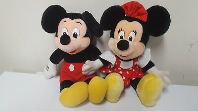 Disney Mickey And Minnie Mouse Plush Vintage Toy Stuffed Animal Collectible