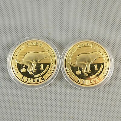 Funny Gold Plated Commemorative Collectible Golden Iron Coin XNB20