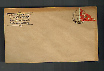 1941 Guernsey Channel Islands England Occupation Cover Bi Sect Stamp rare cancel