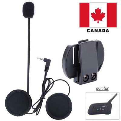 Wired Headset Mic/Speaker+Clip for V4/V6 Motorcycle Bluetooth Helmet Intercom CA