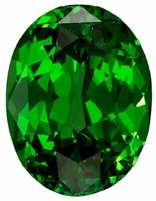 Natural Extra Fine Rich Green Chrome Diopside - Oval - Eastern Siberia - AAA+ Gr