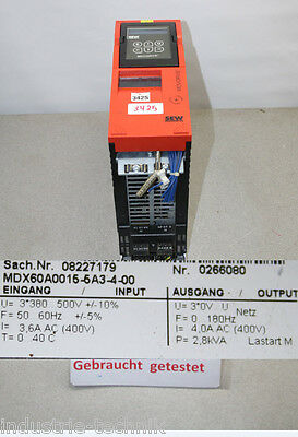 SEW Movidrive Frequency Converter MDX60A0015-5A3-4-00 MDX60A00155A3400 Tested