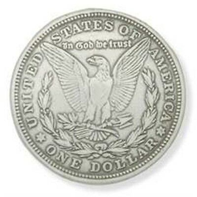 Silver Morgan Eagle Dollar Concho - Screwback Leather Factory Tandy 1375inch