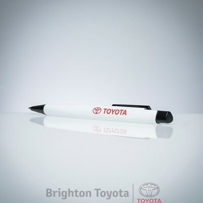 New Official Toyota Merchandise Toyota PEN White MATT  Part TMTOY049