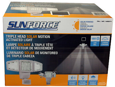 Sunforce Solar 150 LED Motion Sensor Security Light / Floodlight & Solar Panel