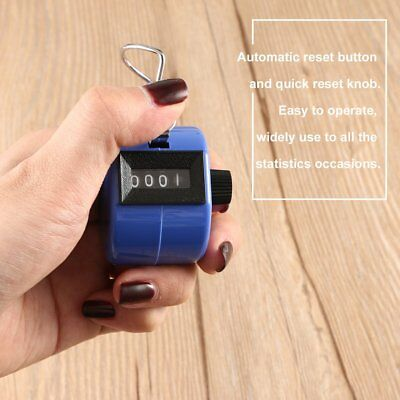 Tally Hand People Security Lap Counter Clicker In Blue S1#
