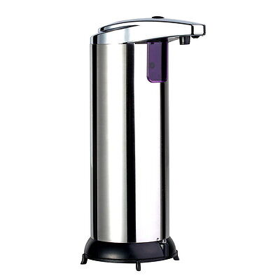 Stainless Steel Handsfree Automatic IR Sensor Touchless Soap Liquid Dispenser #~
