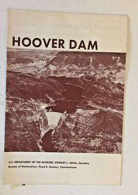 Vintage 1965 Hoover Damn Fold Out Brochure Birth Of A Project Souvenir Water WOW