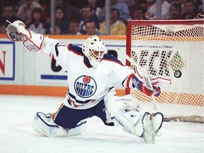 Grant Fuhr Edmonton Oilers Nhl Hockey Goalie Color 10x8 Photo Tk