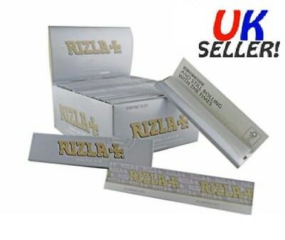 Rizla Silver King Size Slim Smoking Rolling Papers Ultra Thin Cigarette Original