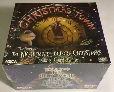 Nightmare Before Christmas Town Expansion Card Game Booster Box Sealed - 36 Pks