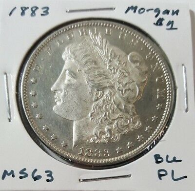 1883 Morgan Silver Dollar - Gorgeous Proof Like BU Mint State (MS) Coin!