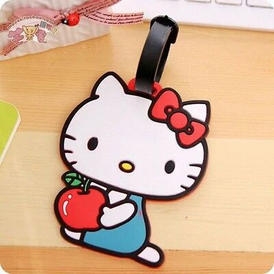 Hello kitty Luggage Case Card Cute ID Card Checked Luggage Card Lovely Gel Card