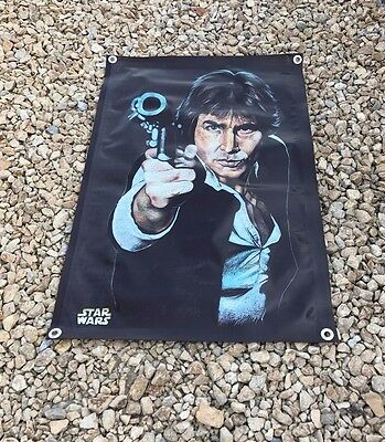 Star Wars Han Solo figure blaster vest poster banner action sign movie gun A2A