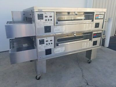 2014 Middleby Marshall PS570G Double Deck Conveyor Pizza Ovens