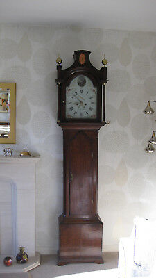 Hull pagoda top .Antique Longcase / Grandfather clock