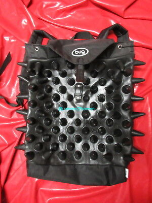 Craig Morrison Rucksack Gummi Spikey Bug Backpack Rubber Goth Rubber Bag Demask