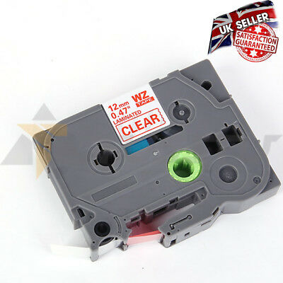 COMPATIBLE LABEL TAPE FOR BROTHER, WZ 132 12mm FOR P-TOUCH GL-100 PT-1000
