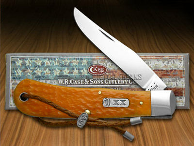 CASE XX Persimmon Orange Jigged Bone Backpocket Pocket Knives Knife