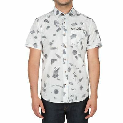 d515116df NWT VOLCOM Club Destroy Collection D CLUB S/S SHIRT Button-Up MODERN FIT
