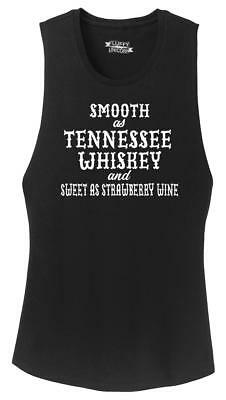 Ladies Smooth As Tennessee Whiskey Festival Tank Alcohol Country Redneck Party