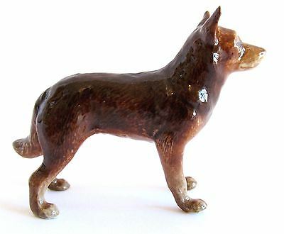 Miniature Porcelain Hand Painted Dog Figurine - Australian Red Kelpie