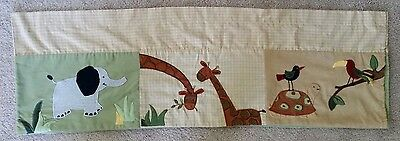 KIDSLINE ZANZIBAR Window Valance giraffes,elephant,turtle,zebra monkey,alligator