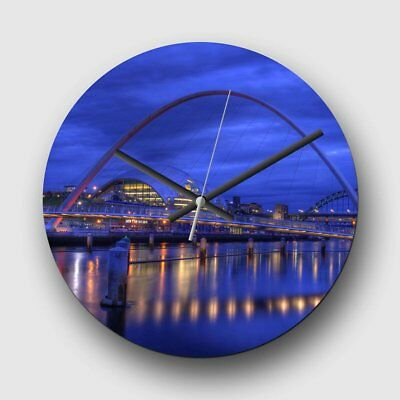 Large 32cm Analog Wall Clock - Millennium Bridge Newcastle 2 - Silent Quartz -