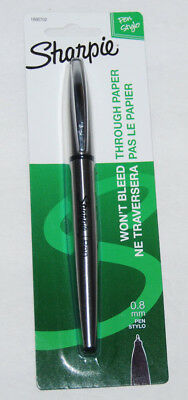 Sharpie Stainless Steel Pen 1800702 Fine .8mm Black Ink No Bleed NEW