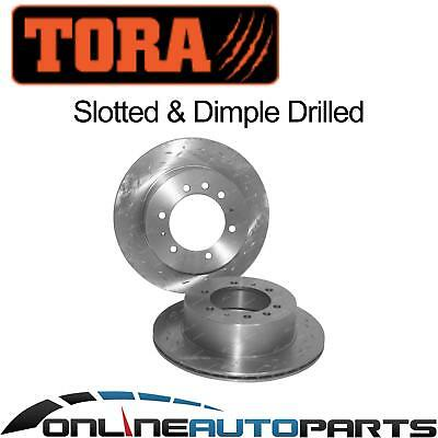 2 Rear Slotted+Drilled Disc Brake Rotors Ford Maverick DA GY KY 1988-1993 Pair