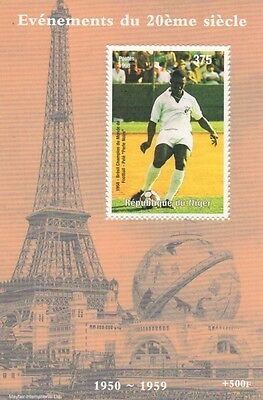 Pele Brazilian Football Legend Eiffel Tower Events Of Century Mnh Stamp Sheetlet
