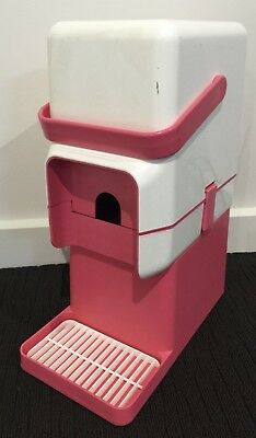 Vintage Retro Hot Pink Decor Wine Cask Cooler / Chiller with Bar Stand.