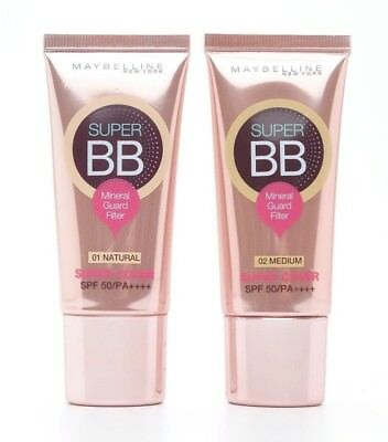 30ml MAYBELLINE NEW YORK SUPER COVER BB CREAM MINERAL GUARD FILTER SPF 50 PA+++