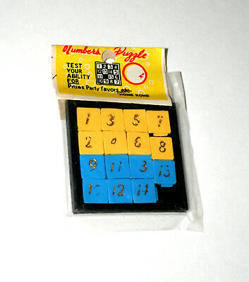 Carnival Prize Dime Store Numbers Game Plastic Frame Tray Puzzle 1960s NOS MIP