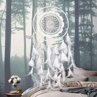 Wind New Wall Large Dream Catcher White Hanging Ornament Feather Gifts Handmade