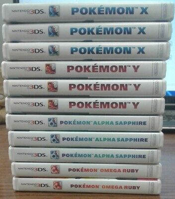 Pokemon 3DS Pick and Choose X, Y, Alpha Sapphire, Omega Ruby