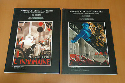 2 Catalogues Affiches Cinema Dominique Besson #8 & #9 Movies Posters Rare