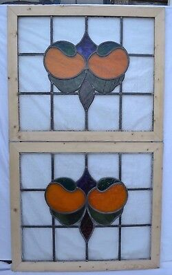 2 leaded light stained glass window panels above door size. R650. DELIVERY!